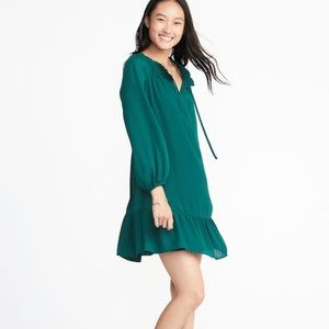 NWT Old navy green swing dress size small
